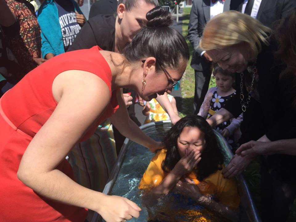 Alejandra, mom to our LA sister Maria, has her sins forgiven!
